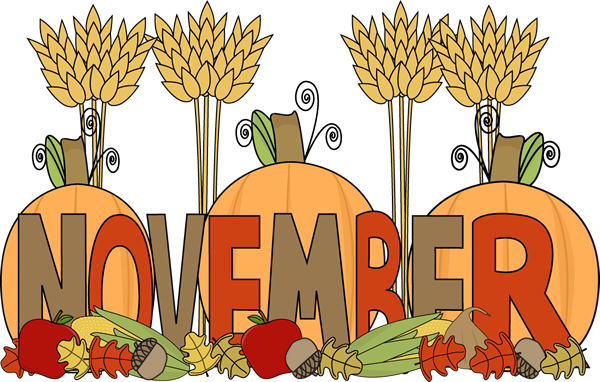 November Fall Clipart