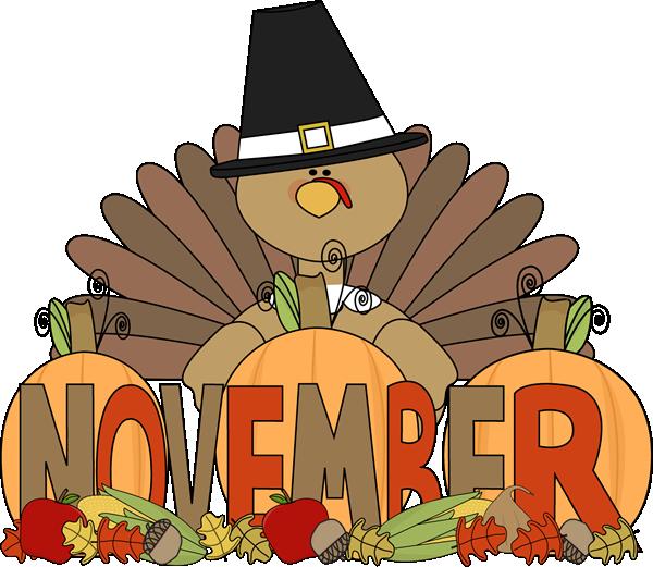 November Clip Art - November Images - Month of November Clip Art
