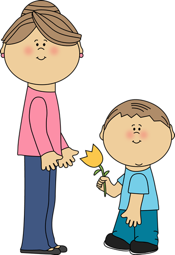 Boy with Flower for Mom