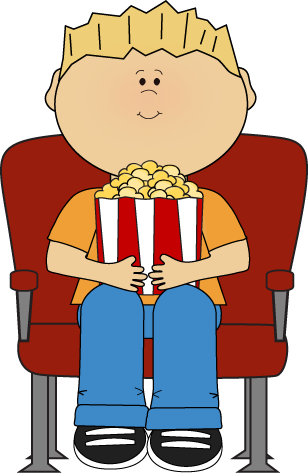Clip Art Movie Clip Art movie clip art images kids night boy watching with popcorn