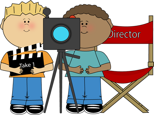 Kids Directing Behind Movie Camera