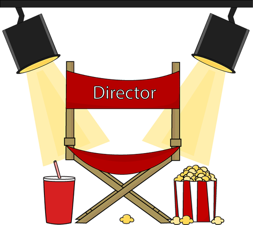 Red Directors Chair Clip Art
