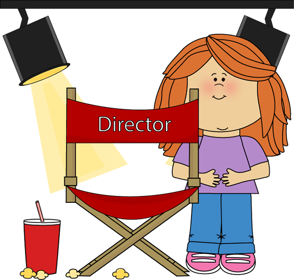 Girl on Movie Set