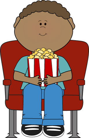 Clip Art of Stickman Kids Watching Cartoons k14919807 ... |Kids Watching Movie Clipart