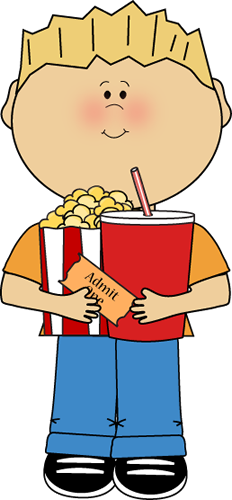 Kid with Movie Snacks