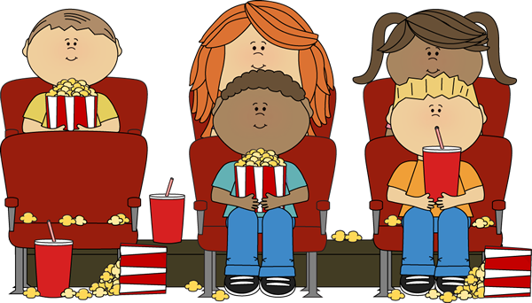 Clip Art Movie Clip Art movie clip art images kids night watching in theater