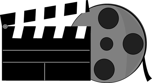 Movie Clapperboard and Movie Reel