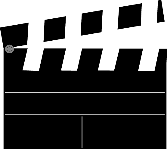 Movie Clapperboard Clip Art Image - movie clapperboard with divider ...