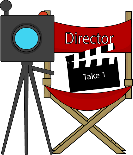 Movie Directors Chair and Camera