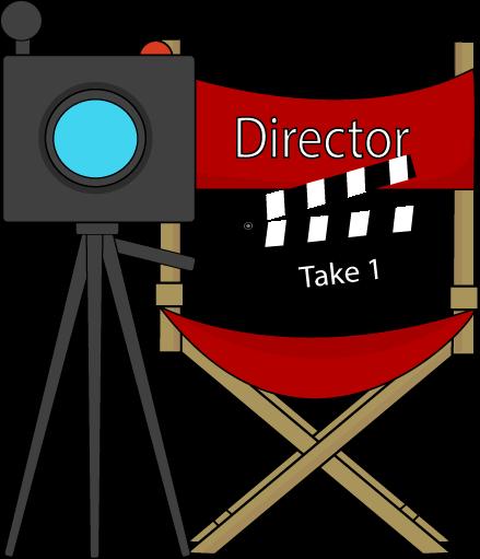 Film director camera clip art