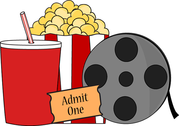 Clip Art Movie Night Clipart movie night clip art image is complete with popcorn and drink a on film ticket