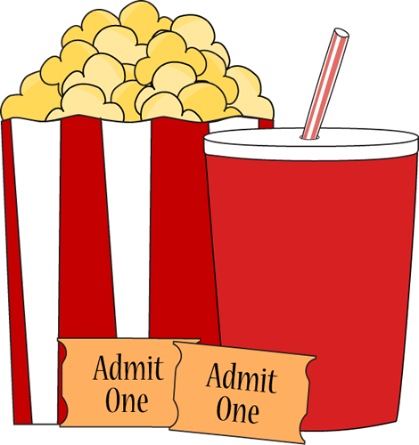Popcorn And Movie Ticket Clip Art