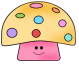 Cute Colorful Mushroom Graphic
