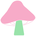 Pink and Green Mushroom