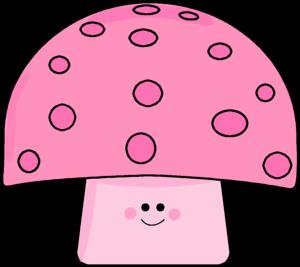 Pink Polka Dot Mushroom
