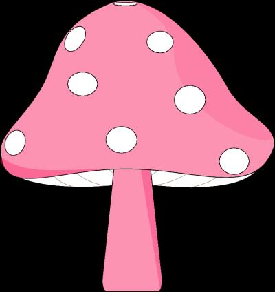 Pink and White Mushroom
