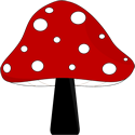 Red and Black Mushroom