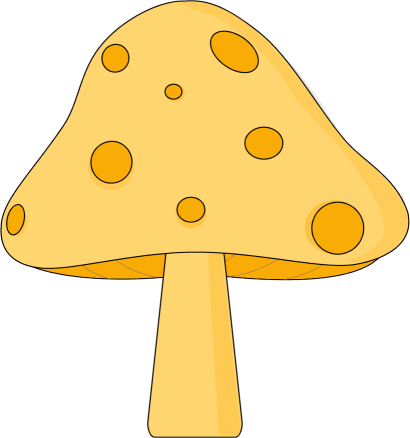 Yellow Spotted Spotted Mushroom