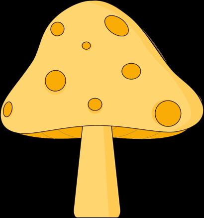 Yellow Spotted Mushroom