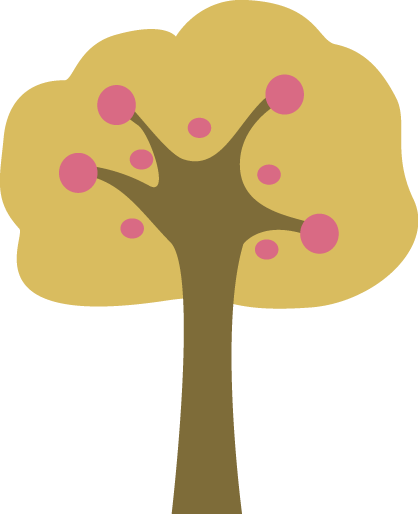 Pink and Yellow Tree Clip Art - Pink and Yellow Tree Image