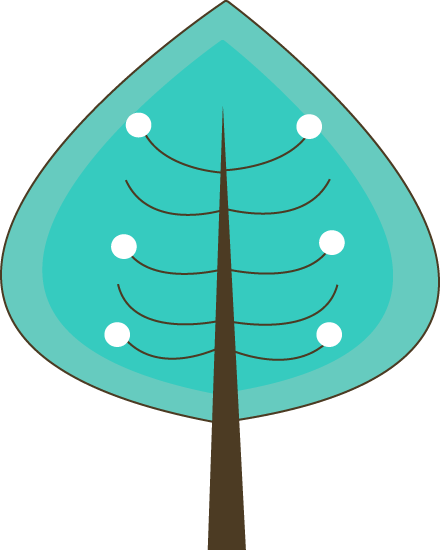 Teal Winter Tree
