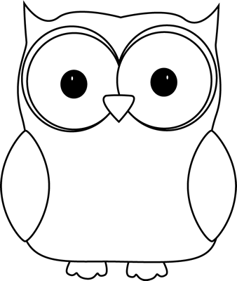 Clip  on Black And White Owl Clip Art Image   White Owl With A Black Outline