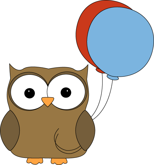 Brown Owl with Balloons