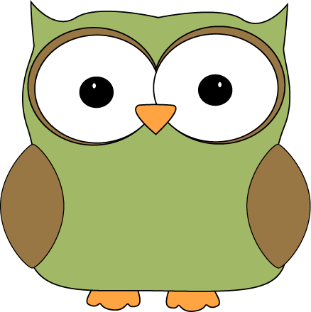 Cartoon owl clip art image green cartoon owl with big eyes