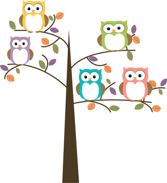 Clip Art Owls Clip Art owl clip art images colorful owls in pretty tree