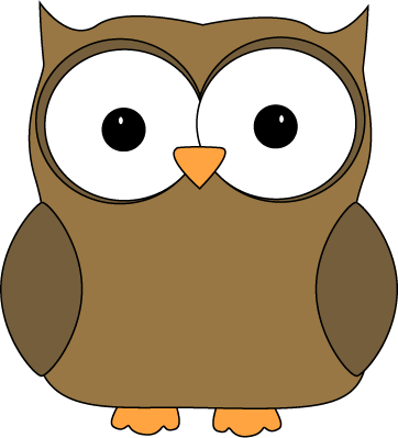 Cute Brown Owl Clip Art Image - cute brown owl with brown wings and    Cute Owl Clip Art