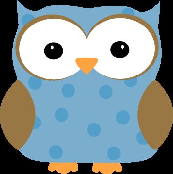 Blue Polka Dot Owl