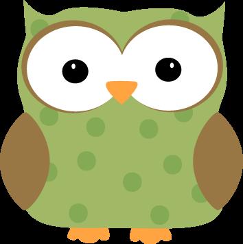 Green Polka Dot Owl