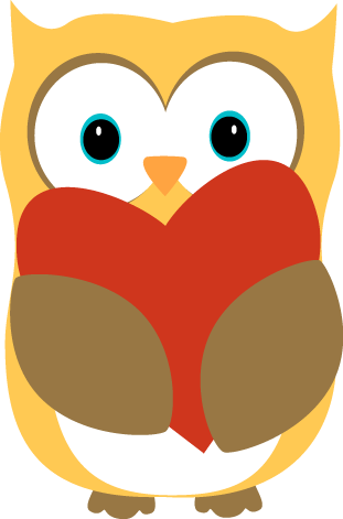 Owl with a Heart