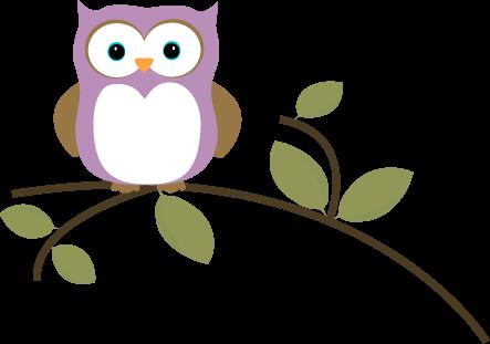 Owl on a Leafy Branch
