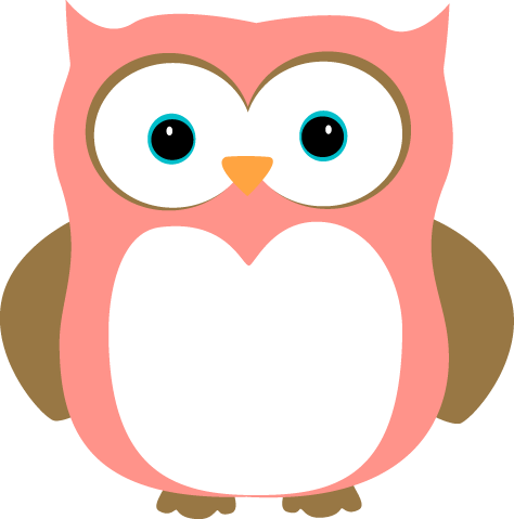 Pink and Brown Owl Clip Art Image - pink and brown owl with orange ...