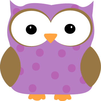 Purple Polka Dot Owl
