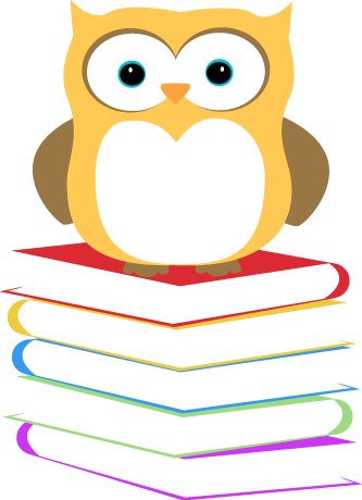 Owl Sitting on a Stack of Books