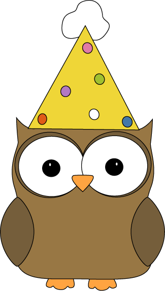Owl Wearing Party Hat