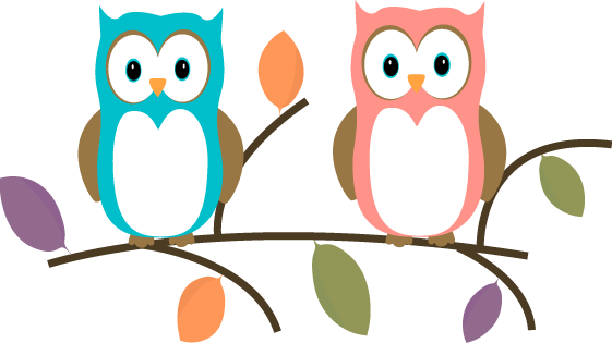 Clip Art Owls Clip Art owl clip art images two owls sitting on a tree branch