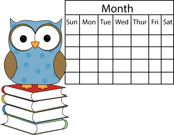 Polka Dot Owl with Calendar
