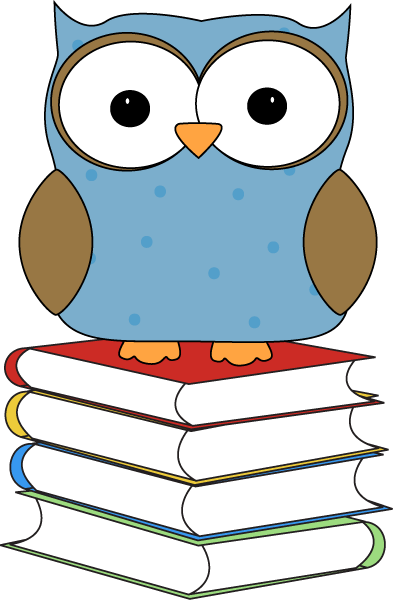 Polka Dot Owl Sitting on Books