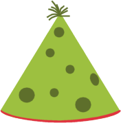 Green Party Hat Clip Art Image