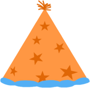 Orange Party Hat Clip Art Image