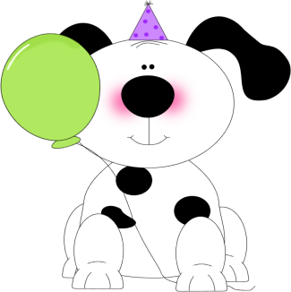 Party Puppy Clip Art Image
