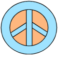 Blue and Orange Peace Sign