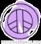 Purple Peace Sign