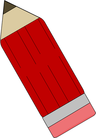 Red Upside Down Pencil
