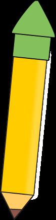 Yellow Pencil with a Green Eraser