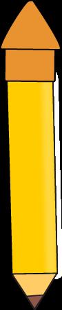 Yellow Pencil with an Orange Eraser