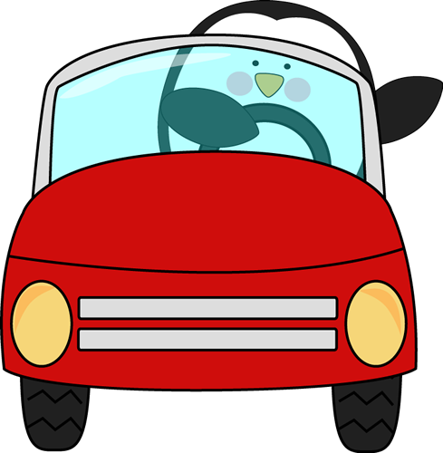 Penguin Driving a Car